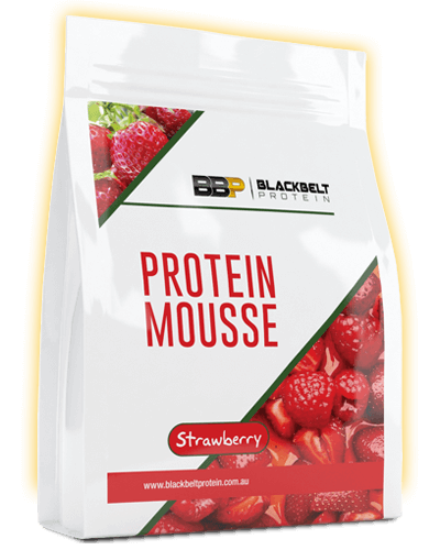 protein mousse-strawberry